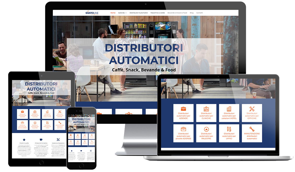 Realizzazione sito web Distributori Automatici