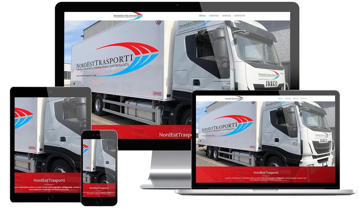 Realizzazione sito web ditta trasporti refirgerati