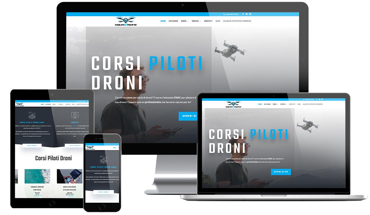 Realizzazione sito web Corsi Piloti Droni