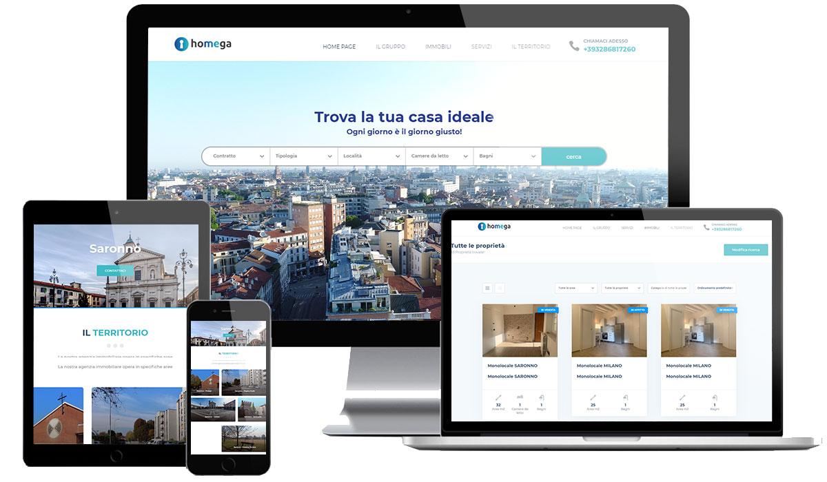 Realizzazione sito web agenzia immobiliare Saronno