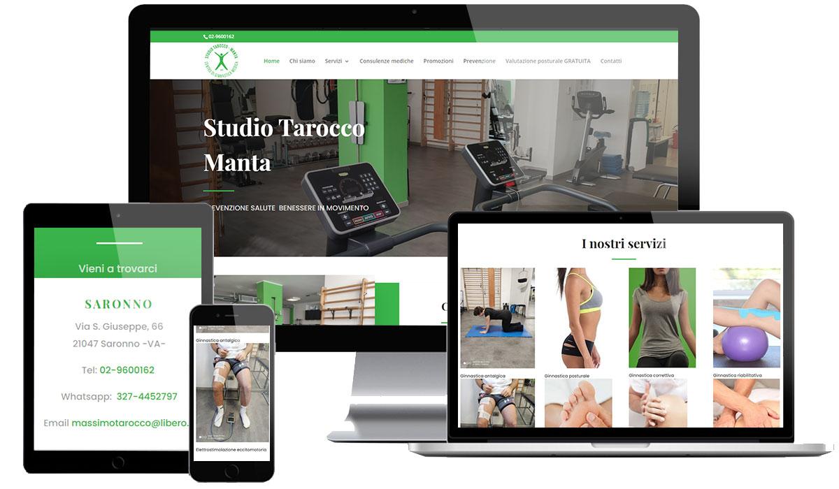 Realizzazione sito web centro ginnastica medica