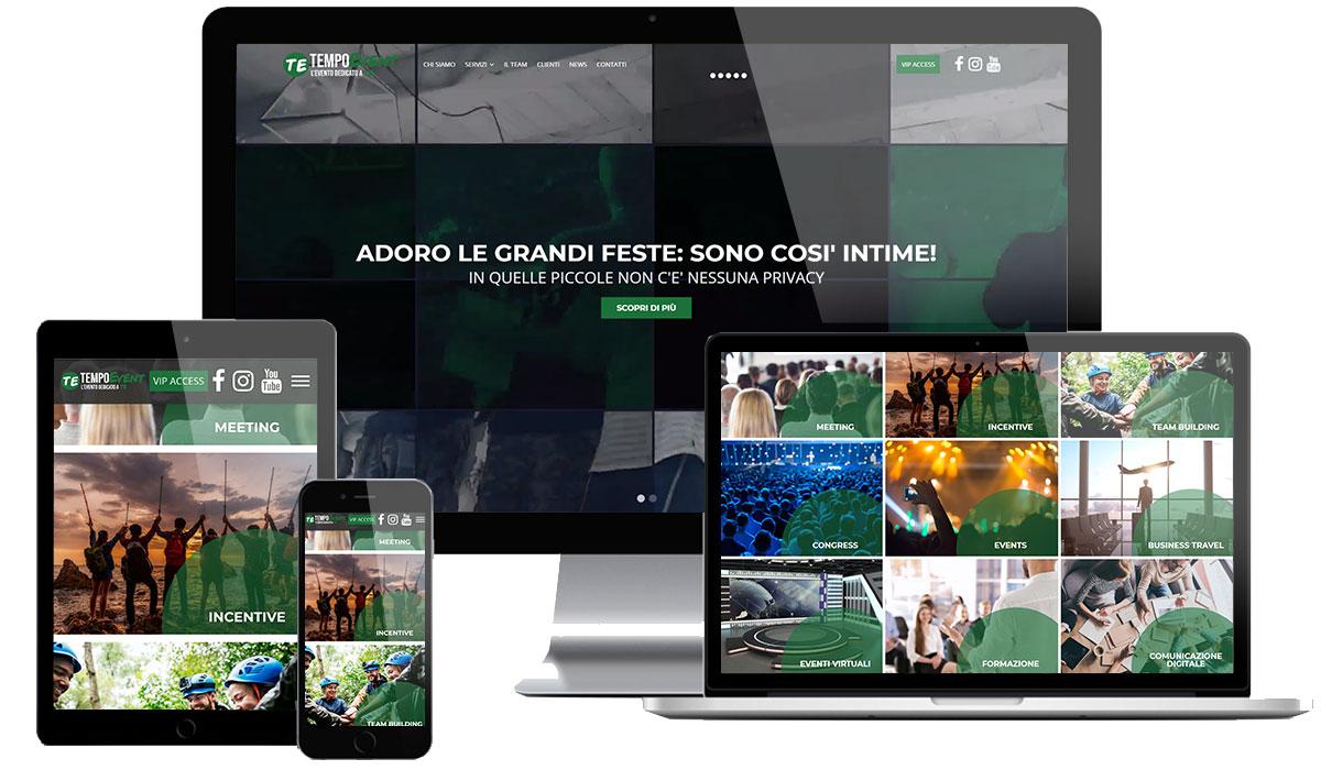 Realizzazione sito web agenzia eventi milano
