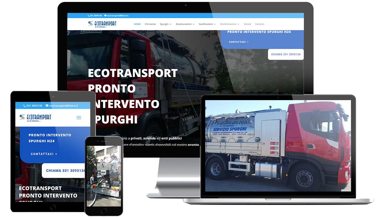 Realizzazione sito web azienda spurghi